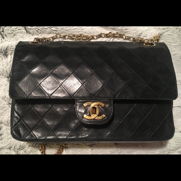 376ccba5e705f8 CHANEL Bags   Authentic Gold Chain Double Flap Bag   Poshmark